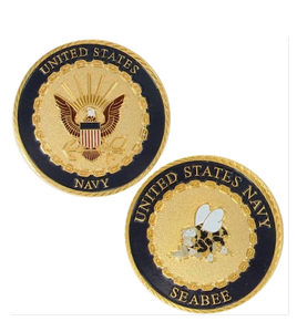 Navy Challenge Coin Seabee