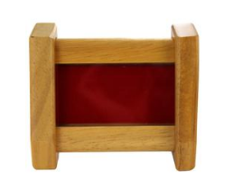 Oak Desktop Two Coin Holder