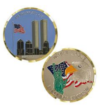 September 11th Coin of Freedom Challenge Coin