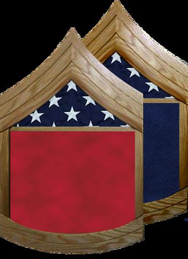 US Army E-7 Sergeant First Class Shadow Box w/ Flag Window