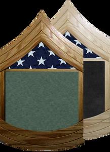 US Army E-8 Master Sergeant Shadow Box w/ Flag Window