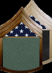US Army E-6 Staff Sergeant Shadow Box w/ Flag Window