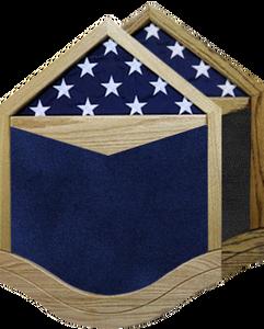 US Air Force E-6 Technical Sergeant  Shadow Box w/ Flag Window