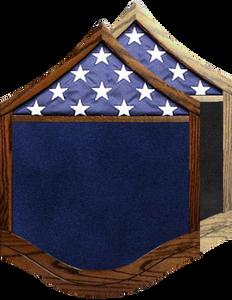 US Air Force E-7 Master Sergeant Shadow Box w/ Flag Window