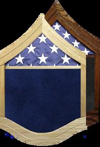 US Air Force E-8 Senior Master Sergeant Shadow Box w/ Flag Window