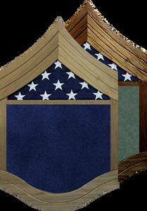 US Air Force E-9 Chief Master Sergeant  Shadow Box w/ Flag Window