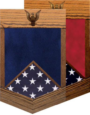 US Navy E-6 Petty Officer First Class Shadow Box w/ Flag Window