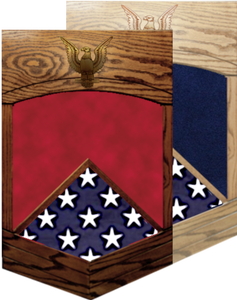 US Navy E-7 Chief Petty Officer Shadow Box w/ Flag Window