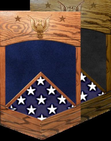 US Navy E-9 Master Chief Petty Officer Shadow Box w/ Flag