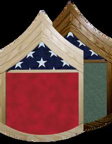 US Marine Corps E-6 Staff Sergeant Shadow Box w/ Flag Window