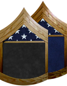 US Marine Corps E-7 Gunnery Sergeant Shadow Box w/ Flag