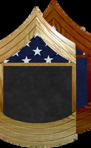 US Marine Corps E-8 Master Sergeant Shadow Box w/ Flag Window