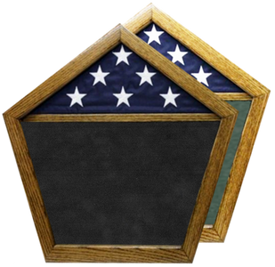 United States Pentagon Shadow Box w/ Flag Window
