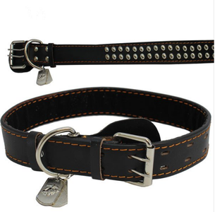 Pet Insignia- XXL Spiked Leather Collar w/ Eagle, Anchor and Globe