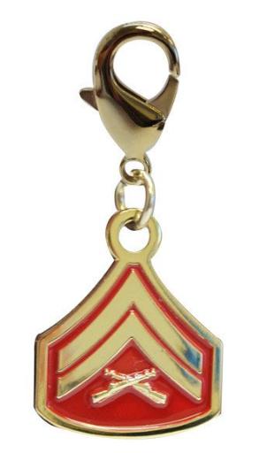 Pet Insignia Rank Charm - Corporal