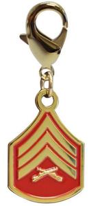 Pet Insignia Rank Charm - Sergeant