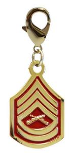 Pet Insignia Rank Charm - Gunnery Sergeant