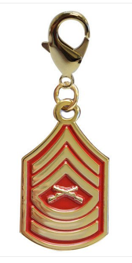 Pet Insignia Rank Charm - Master Sergeant