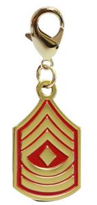 Pet Insignia Rank Charm - 1st Sergeant