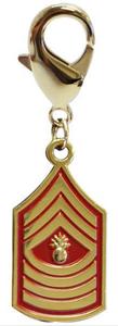Pet Insignia Rank Charm -  Master Gunnery Sergeant