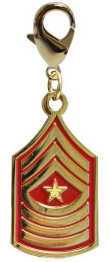 Pet Insignia Rank Charm -  Sergeant Major