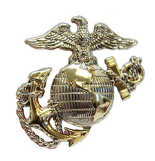 Pet Insignia Rank Charm - Small Officer Eagle, Globe and Anchor