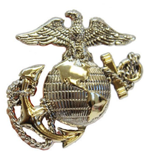 Pet Insignia Rank Charm - Large Officer Eagle, Globe and Anchor