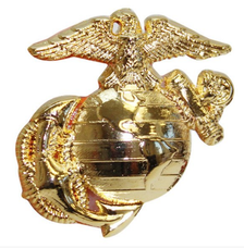 Pet Insignia Rank Charm - Small Enlisted Eagle, Globe and Anchor