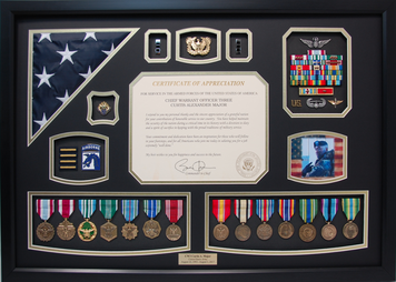 Chief Warrant Officer Shadow Box Display