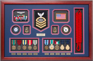 Navy Company Command Shadow Box Display