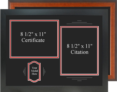 "17"" x 23"" Certificate, Citation and Medal Display Frame"