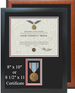 Air Force Good Conduct Certificate Frame
