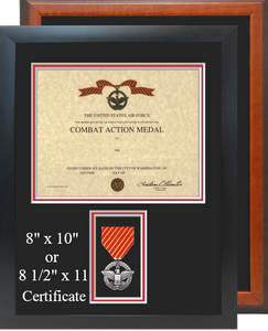 Air Force Combat Action Medal Certificate Frame