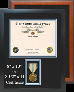 Armed Forces Reserve Service Medal Certificate Frame