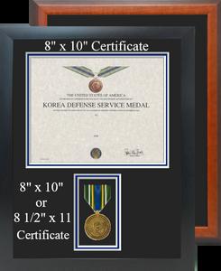 Korean Defense Medal Certificate Frame