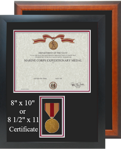 Marine Corps Expeditionary Medal Certificate Frame