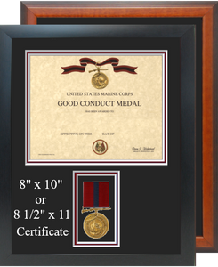 Marine Corps Good Conduct Medal Certificate Frame