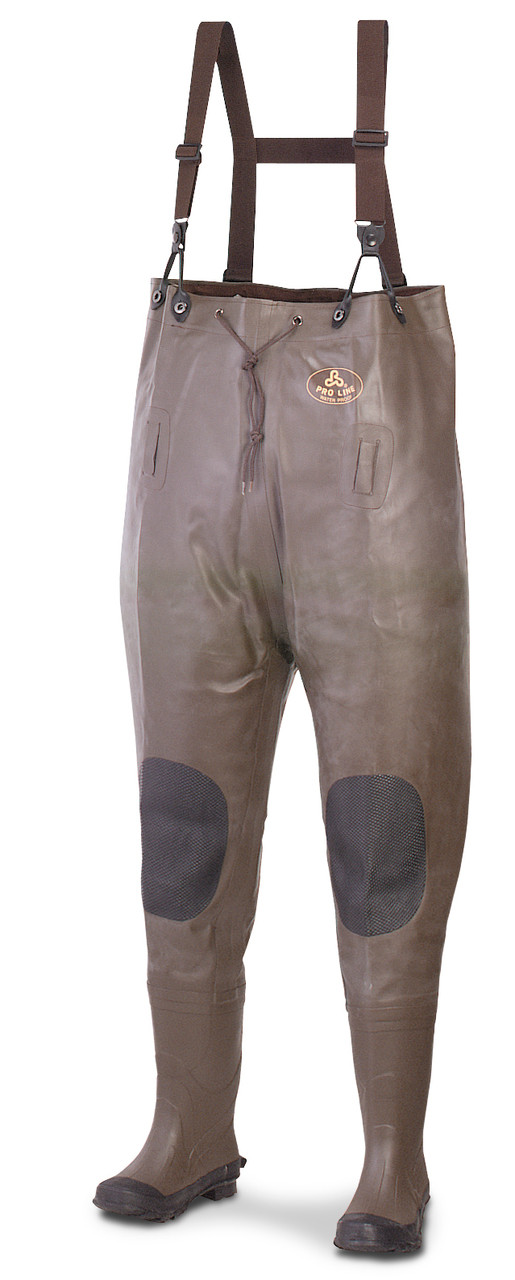 Pro Line® Rubber Chest Waders, Size 11