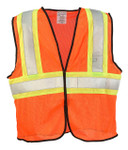 ANSI Class 2 Two-Tone Mesh Safety Vest, Orange, Size S/M