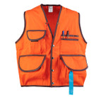 "JIM-GEM® ""Pro"" 10-Pocket Cruiser Vest, 10.1 oz Cotton, Orn, Sm, 25-37 Chest"