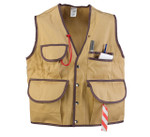 "JIM-GEM® ""Pro"" 10-Pocket Cruiser Vest, 10.1 oz Cotton, Tan, Sm, 25-37 Chest"