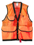 JIM-GEM® 8-Pocket Nylon Mesh Cruiser Vest, Hi-Vis Orn, XL, 43-46 Chest