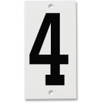 Fiberglass Number Plates for Stream Gauges, Number Plate 4