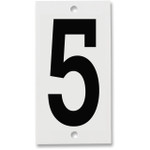 Fiberglass Number Plates for Stream Gauges, Number Plate 5