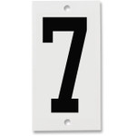 Fiberglass Number Plates for Stream Gauges, Number Plate 7
