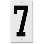 Fiberglass Number Plates for Stream Gauges, Number Plate 7