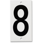 Fiberglass Number Plates for Stream Gauges, Number Plate 8