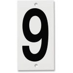 Fiberglass Number Plates for Stream Gauges, Number Plate 9