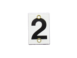 Number Plate 2 for Style E & M Staff Gages, 3in x 2in