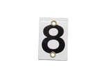 Number Plate 8 for Style E & M Staff Gages, 3in x 2in